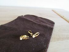 Vintage Simulated Pearl Gold Tone Filigree Loops Clip On Earrings Lever Back