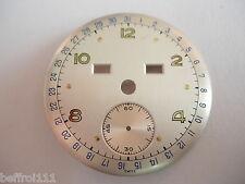 Cadran montre ancienne or vintage dial triple quantieme jour date moi 31,5mm