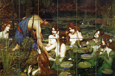 Waterhouse Art Mural Ceramic Backsplash Bath Home Decor Tile #404