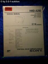 Sony Service Manual HMD A200 Color Computer Display (#4549)