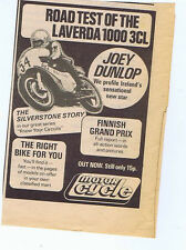 LAVERDA 1000 3CL /  MOTOR CYCLE MAG AD press clipping 1977 (6/8/77) 9X13cm