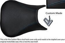 Punto azul Custom 99-02 Fits Yamaha 600 Yzf R6 Fibra De Carbono Vinilo cubierta de asiento