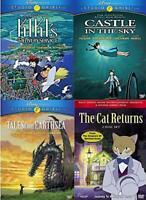 Studio Ghibli 4 DVD Collection Lot Kiki's, Castle In The Sky, Cat Returns NEW