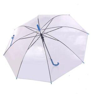 Umbrella Transparent Clear Rain Dome Bubble  Handle Automatic Windproof