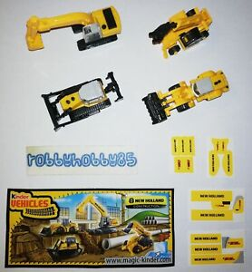 NEW HOLLAND CONSTRUCTION COMPLETE SET WITH ALL PAPERS KINDER SURPRISE 2009