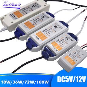 5V 12V 18W 36W 72W 100W Light Transformers LED Driver for LED Strip Power Supply