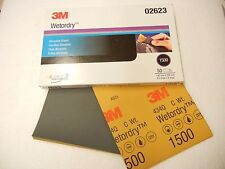 "3M 02623 Imperial Wetordry 5-1/2"" x 9"" 1500C Grit Sheet"