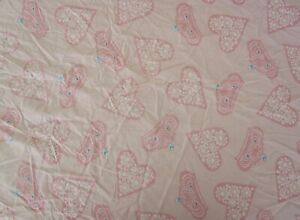 DISNEY PRINCESS TODDLER BED PINK 100%  COTTON  FITTED BOTTOM SHEET-TIARAS/HEARTS