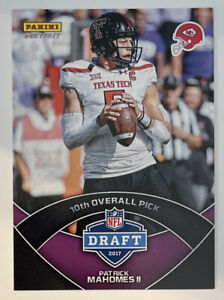 2017 Panini Instant Draft PURPLE, #DP10, Patrick Mahomes ROOKIE, 13/99, RARE WOW