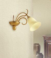 Applique classico 1 luce in metallo colore oro e vetro coll. Dese 3250-1A