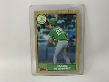 Mark Mcgwire Rookie Card. Topps 1987