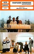 FICHE CINEMA : RHAPSODIE HONGROISE - Miklos Jancso 1979 Hungarian Rhapsody