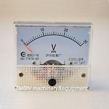 Panel Meter  Voltmeter 0-30V DC 85C1Analog Volt Voltage