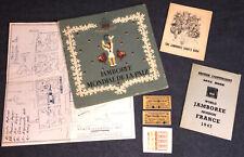 H906 6th WORLD SCOUT JAMBOREE 1947 - HQ ORIGINAL PAPERWORK AND MAP