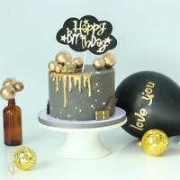 10 Stk Schöne Gold Silber Ball Cake Topper Hochzeit Geburtstag Party Kuchen Deko