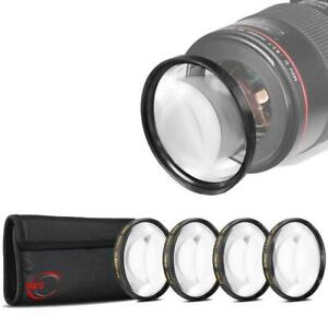 52mm +1 +2 +4 +10 Close Up Macro Filter Set for Nikon 55-200 II, AF-S 18-55mm