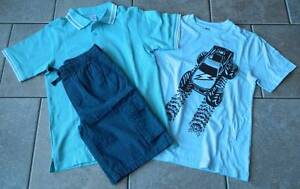 Size 12 years outfit Gymboree,3 pc. set,cargo shorts,polo shirt T-shirt,NWT,blue