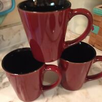 Pfaltzgraff Studio Aria Red Large Coffee Mugs Set Of Three