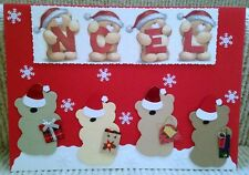 Luxury Handmade Personalised Large A4 CHRISTMAS CARD Forever Friends Noel Gifts