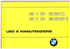 BMW  316- 318- 320 – 323i - MANUALE USO E MANUTENZIONE  -  Driver' Handbook!!