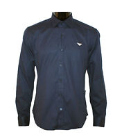 ARMANI MENS SHIRT ON SALE NEW BLUE POLOSHIRT SLIM FIT SIZES : S/M/L/XL/XXL