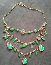 NEW! Tiered Necklace Green and Clear