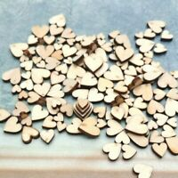 Rustic 4 Sizes Table Scatter Crafts Accessories Wedding Decor Wooden Love Heart