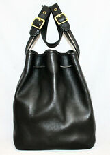 Vintage COACH Legacy Drawstring Bucket Shoulder Bag 9165 Brass Hardware