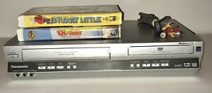 PANASONIC PV-D4735S VHS/DVD Combo Player Bundle With A/V Cable & 2 VHS Tapes