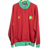 Q2 Vintage Adidas Portugal Flag Track Jacket Trefoil Logo Red Mens Size 2XL XXL