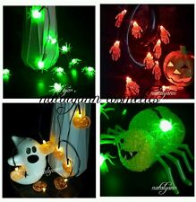 Halloween LED String Lights Pumpkins Spiders Skeleton Window Decor Fairy Lights