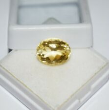 Certified 6.75 Cts Best Quality! Natural Yellow Sapphire Oval Shape Gemstone