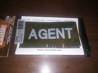 Agent Patch White On Green With Hook And Loop military militia law enforcement