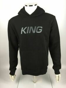 King Apparel Wapping Tracksuit Pullover Hoodie, Black