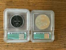2001 Capitol Visitor Center Commemorative Coins-Dollar and Half Dollar