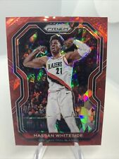 New listing 2020-21 Panini HASSAN WHITESIDE #158 RED CRACKED ICE PRIZM SP Trail Blazers