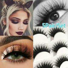 5 Pairs Natural Thick Demi Wispies False Eyelashes Fake Eye Lashes  Full Volume