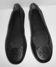 Tory Burch Packable Ballet Flats Black Leather Size 8