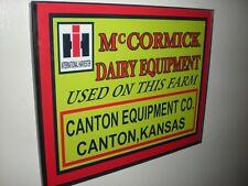IH McCormick Farmall Dairy Equipment Farm Framed Advertising Print ManCave Sign