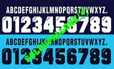 kit nome arco + numero x maglia lazio 96-97 bianco o blu scuro in flock umbro