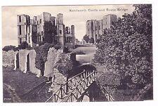 Kenilworth Castle And Rustic Bridge-Kenilworth England-Postcard