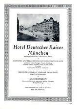 Hotel Deutscher Kaiser München XL Reklame 1929 J. Stengel Starnberger Bahnhof +