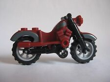 Lego MOTORCYCLE Dirt Bike for Minifigures to Ride - Dark Red - Indiana Jones