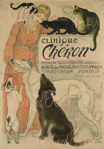 Theaterplakat Art Nouveau Cats Decalfolie Laser shabby chic Möbeltattoo A 4