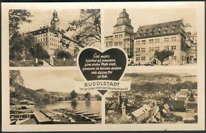 Postkarte Rudolstadt -mit 4 Ansichten, ungelaufen, s/w, 1957, I/II