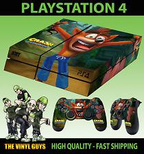PS4 Piel Crash Bandicoot n Sane trilogía Nueva Etiqueta + 2 X Pad Calcomanía Vinilo Lay