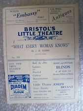 1936 Theatre Programme WHAT EVERY WOMAN KNOWS- J M Barrie