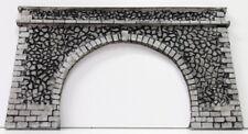 P03 D.M. HO portale doppio binario in resina dipinto come in foto