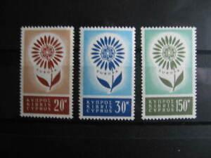 BA4, CEPT-Europa, Satz, ZYPERN, 1964, Postfrisch/MNH/**, Mi € 35