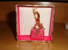 NEW JUICY COUTURE PINK DAYDREAMER BAG  CHARM FOR BRACELET/NECKLACE
